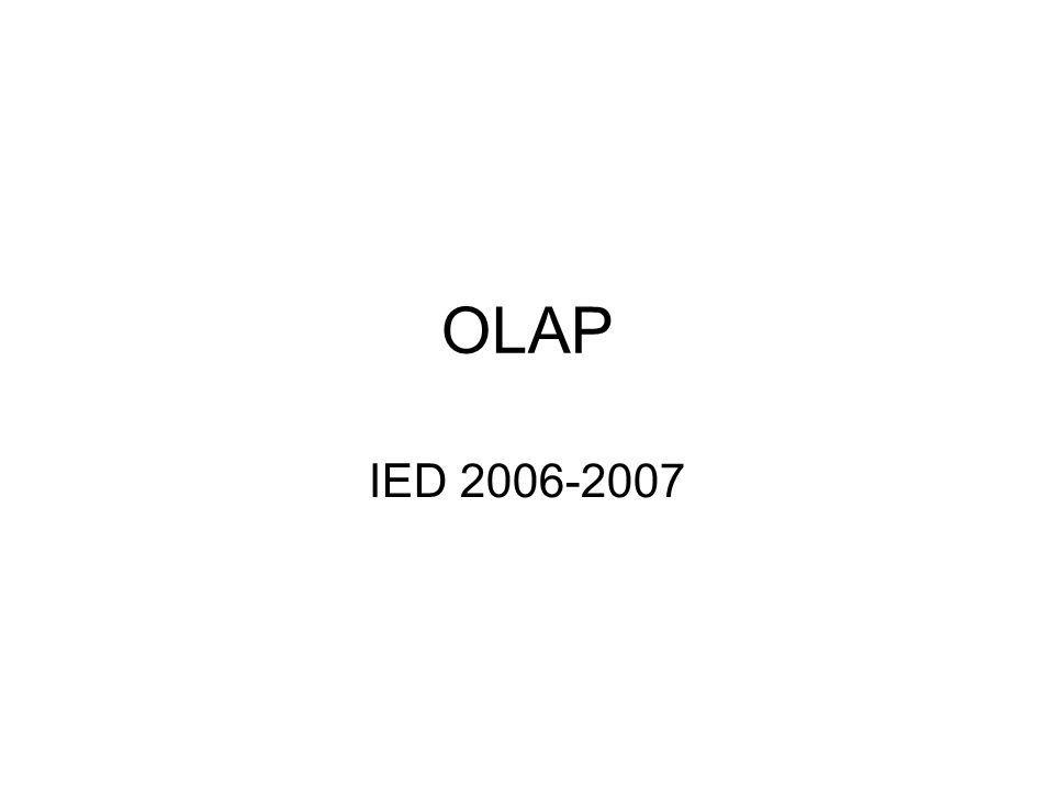 OLAP IED 2006-2007