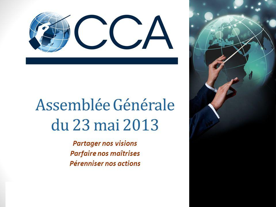 Assemblée Générale du 23 mai 2013 Partager nos visions Parfaire nos maîtrises Pérenniser nos actions