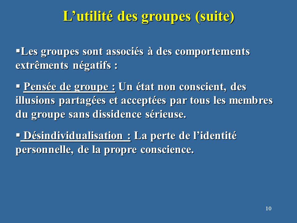 11 Qu'est-ce qu'est la pensée de groupe.1. Illusions d'invulnérabilité… 1.