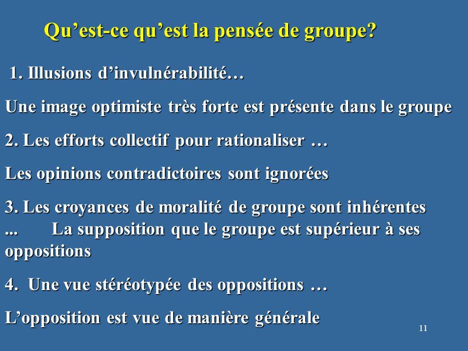 12 Qu'est-ce qu'est la pensée de groupe.5. La pression de conformité...