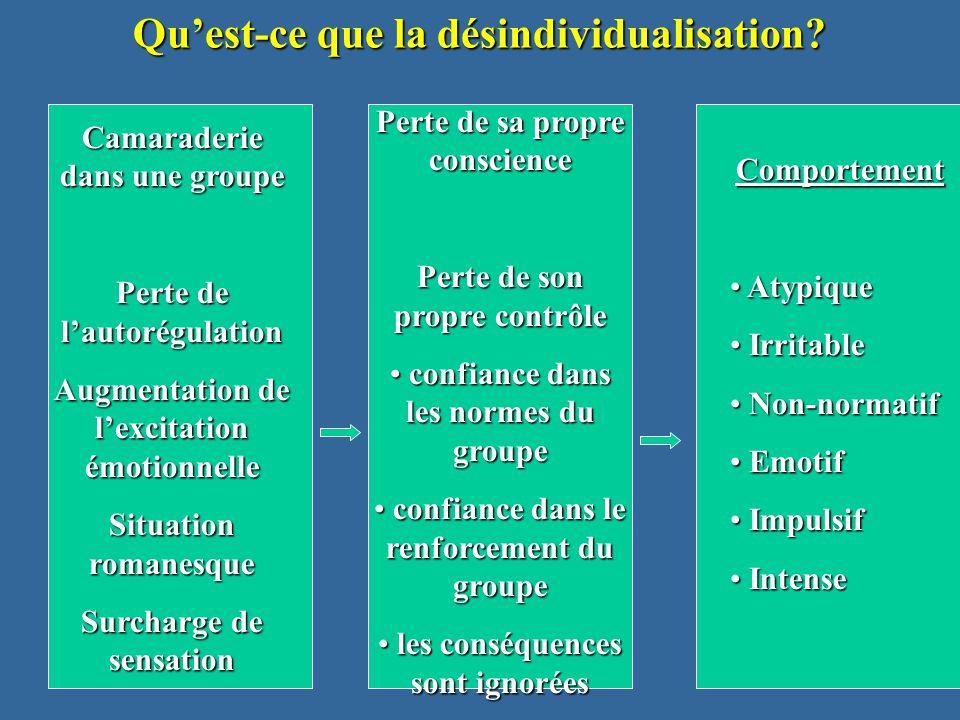 13 Qu'est-ce que la désindividualisation.