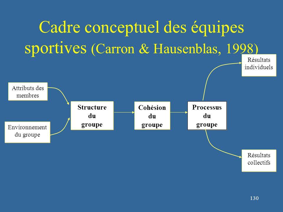 131 1.Nature des groupes 1.5.Cadre conceptuel de l'équipe sportive 1.5.3.Processus