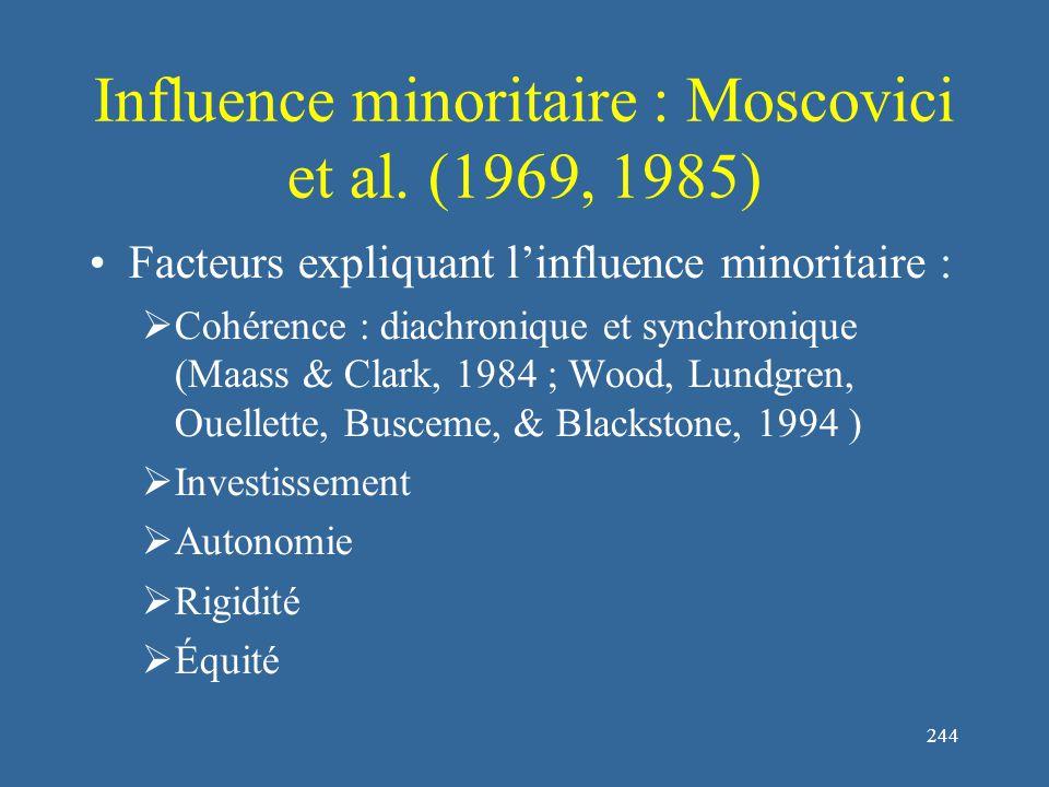 245 Bibliographie : influence sociale Asch, S.E.(1956).