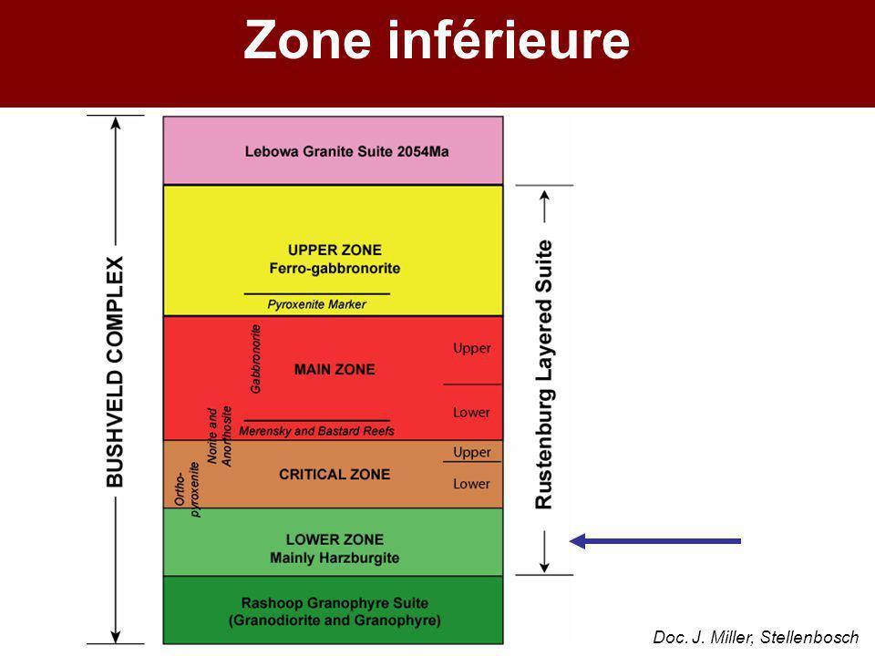 Zone inférieure Doc. J. Miller, Stellenbosch