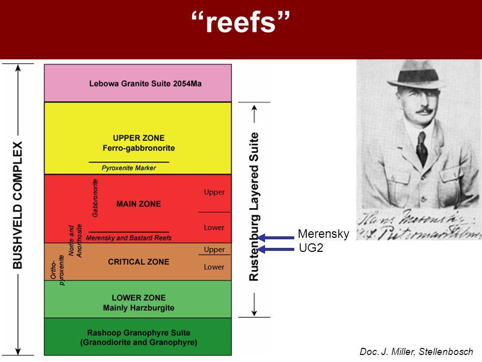 """reefs"" Doc. J. Miller, Stellenbosch Merensky UG2"