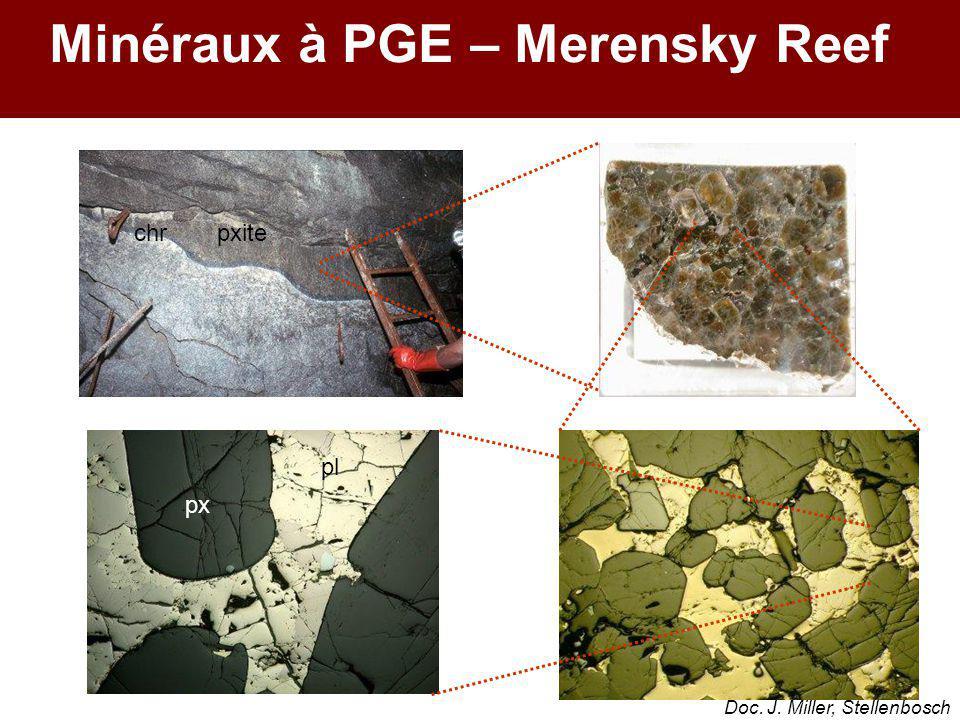 px pl chrpxite Minéraux à PGE – Merensky Reef Doc. J. Miller, Stellenbosch