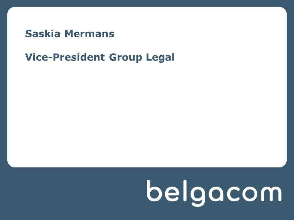Saskia Mermans Vice-President Group Legal