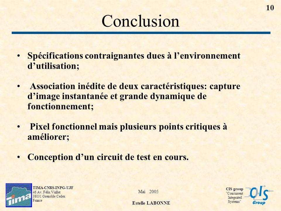 Mai 2005 Estelle LABONNE TIMA-CNRS-INPG-UJF 46 Av.