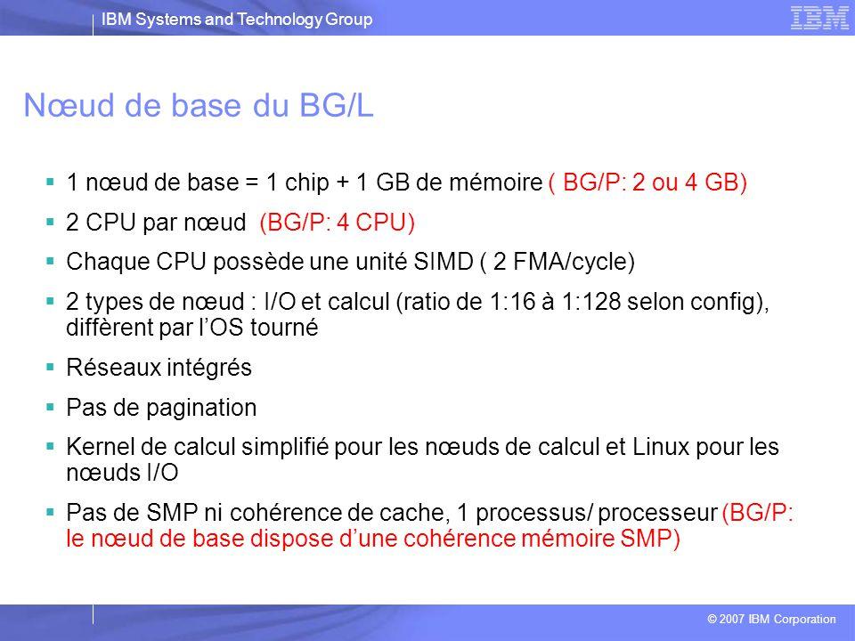 IBM Systems and Technology Group © 2007 IBM Corporation Organisation hiérarchique Nœud de service : management du système de manière transparente à l'