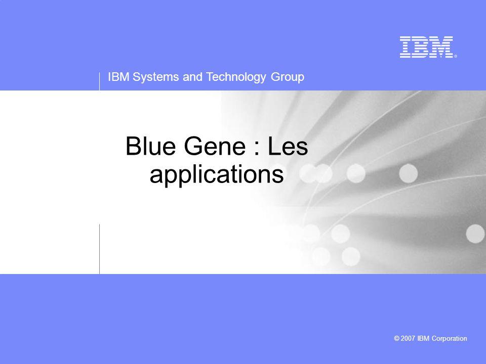 IBM Systems and Technology Group © 2007 IBM Corporation LoadLeveler  L'utilisateur soumet un job depuis un des frontaux  La commande « llsubmit » co