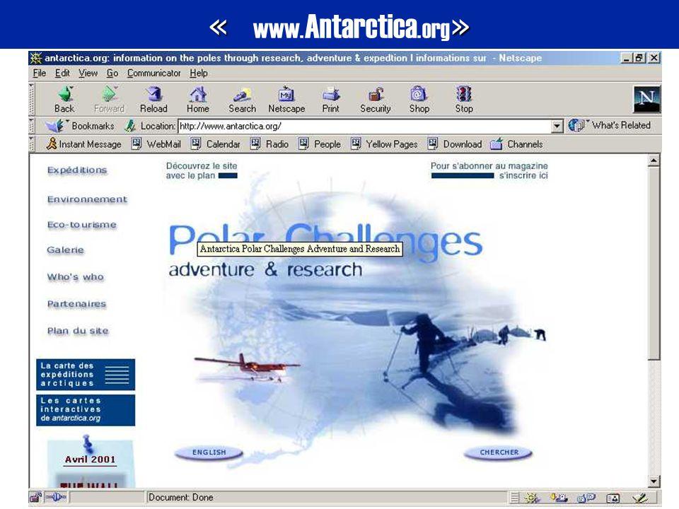 « » « www. Antarctica.org »