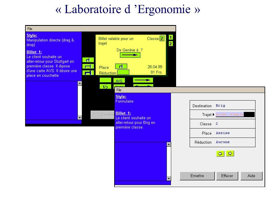 « Laboratoire d 'Ergonomie »