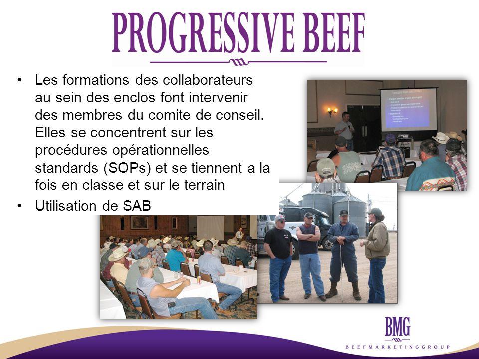 Les formations des collaborateurs au sein des enclos font intervenir des membres du comite de conseil.