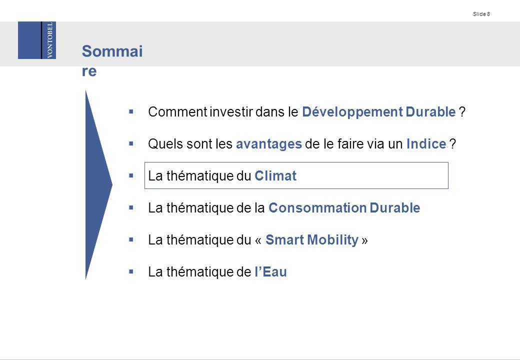 Slide 8  Comment investir dans le Développement Durable .