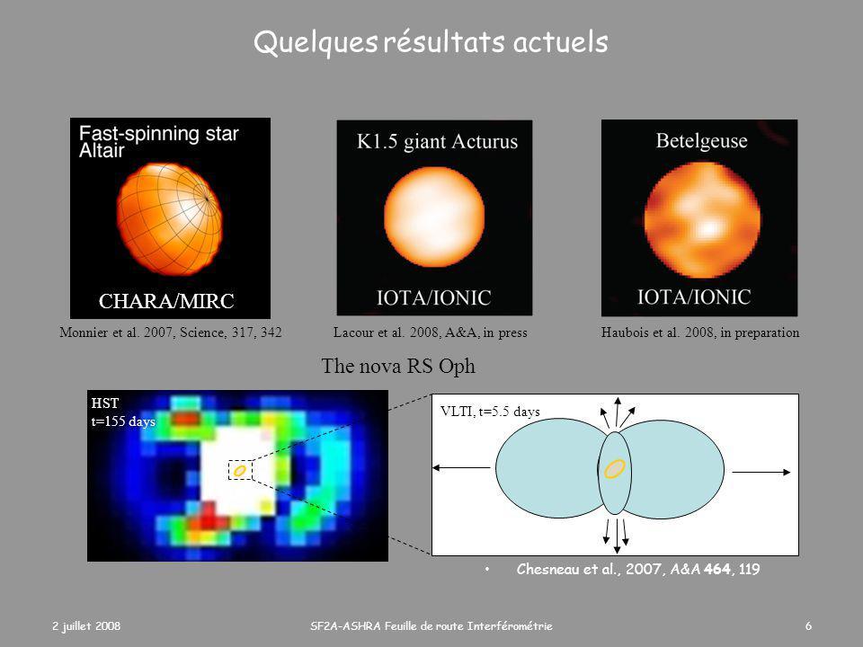 2 juillet 2008SF2A-ASHRA Feuille de route Interférométrie7 Science extragalactique Tristram et al.