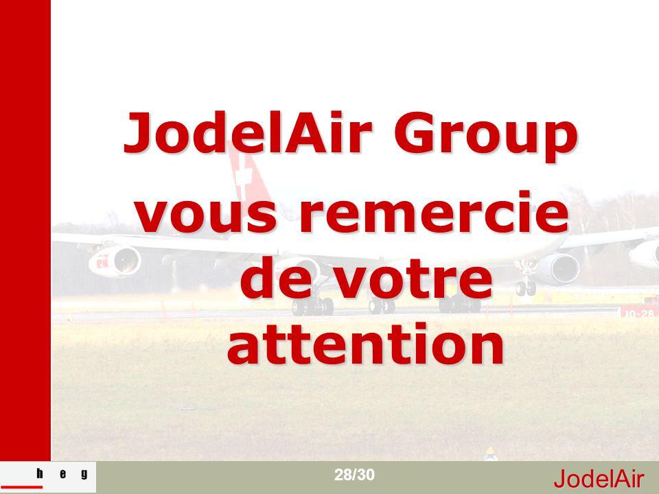 JodelAir 28/30 JodelAir Group vous remercie de votre attention
