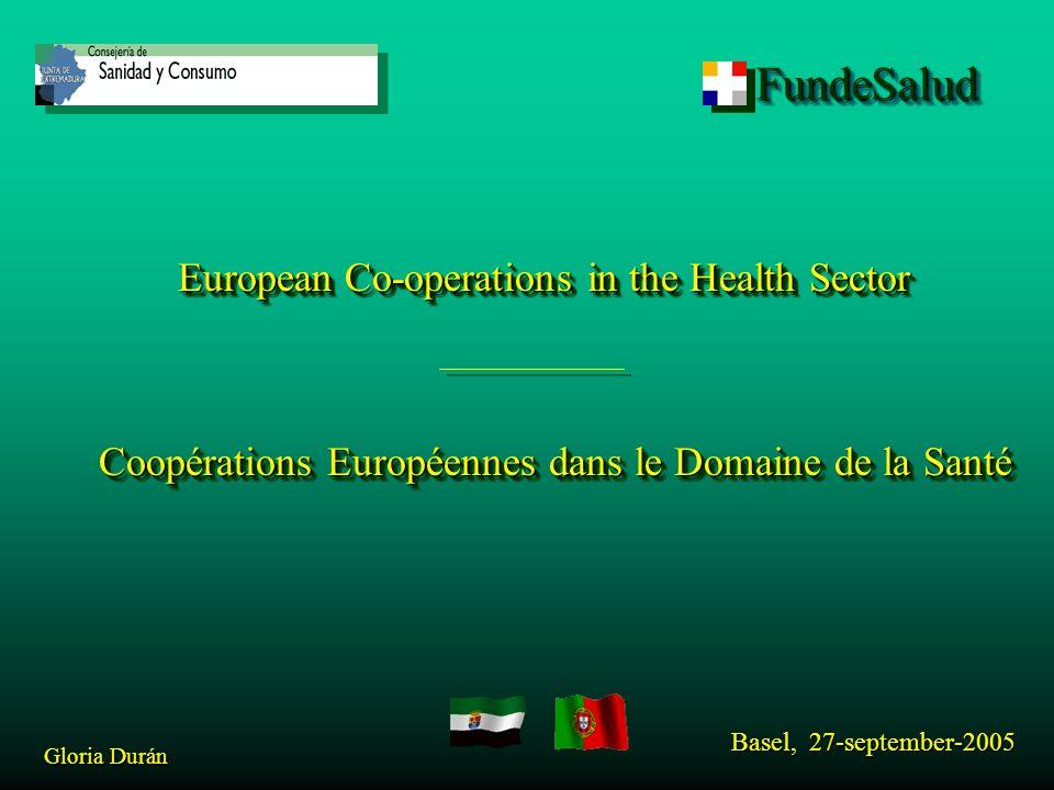 FundeSaludFundeSalud Basel, 27-september-2005 Gloria Durán DIMAGEXAL NEW Leader: DGFICS from Consejería de Sanidad y Consumo of Extremadura (Spain).