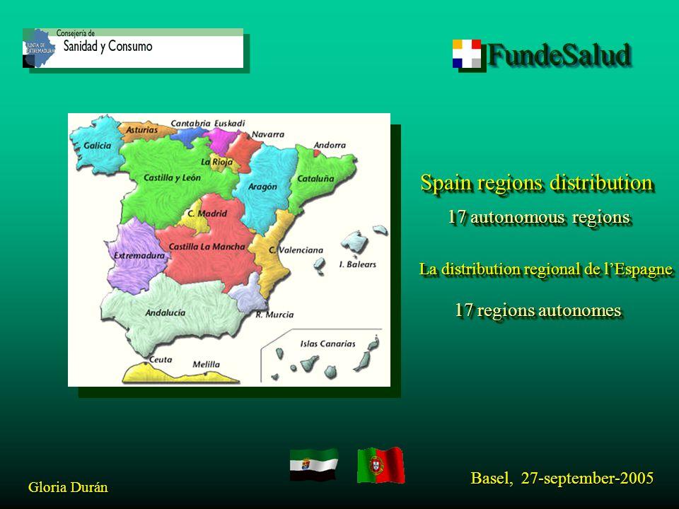 FundeSaludFundeSalud Basel, 27-september-2005 Gloria Durán FORIBTEL NEW Leader: DGFICS from Consejería de Sanidad y Consumo of Extremadura (Spain).
