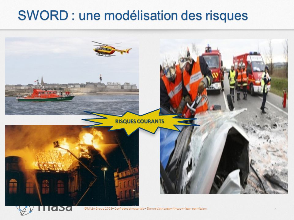 ©MASA Group 2013– Confidential materials – Do not distribute without written permission SWORD : une modélisation des risques 7 RISQUES COURANTS