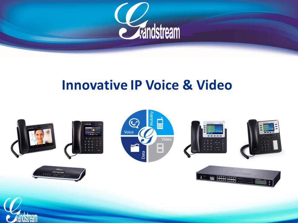 Conférence Vidéo Créer votre conférence vidéo multi-utilisateurs en utilisant les téléphones Vidéo de Grandstream avec la série UCM6100 UCM6100 Series – Vidéo Une prestation de communications vidéo de haute qualité, sûres et fiables