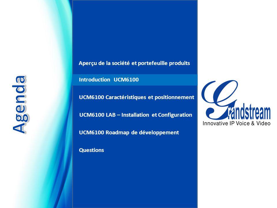 Introduction… Série d'appliances IP PBX UCM6100 UCM6102 UCM6104 UCM6108 UCM6116 Asterisk est une marque déposée de Digium