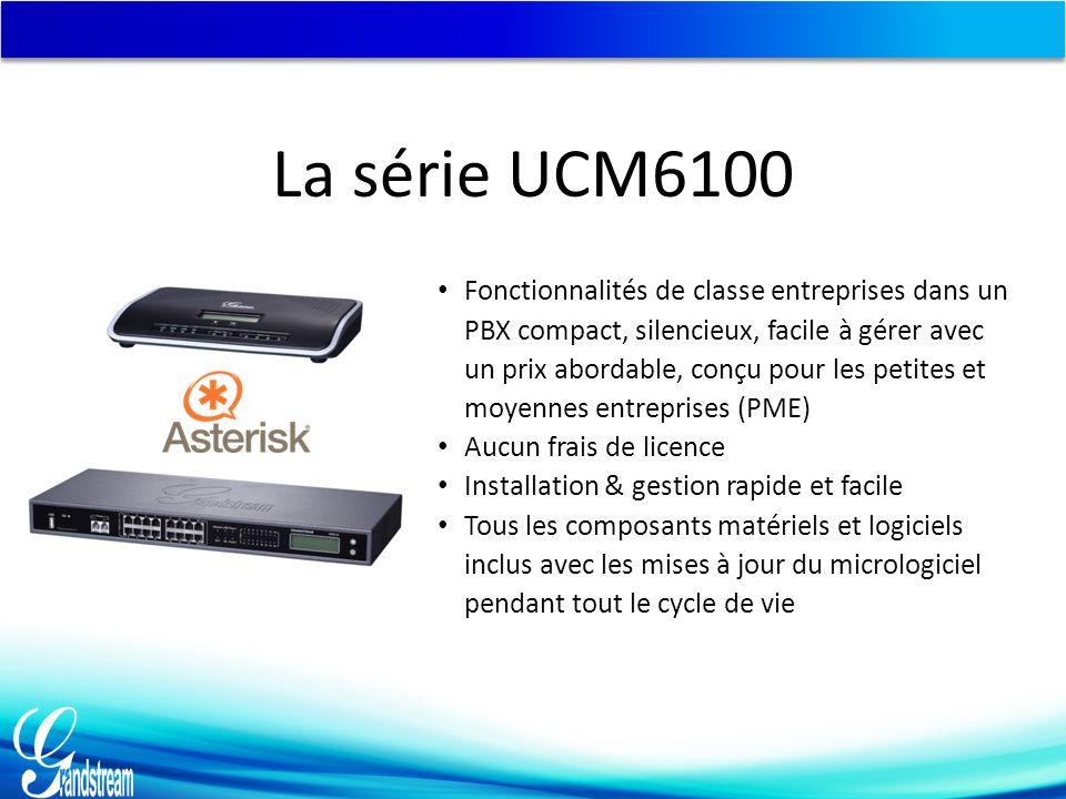 Connecter l'UCM6108/UCM6116 3.Une fois que l'UCM6108/UCM616 est connecté au réseau, le voyant LED NETWORK à l'avant sera en vert et l'écran LCD affichera l'adresse IP.