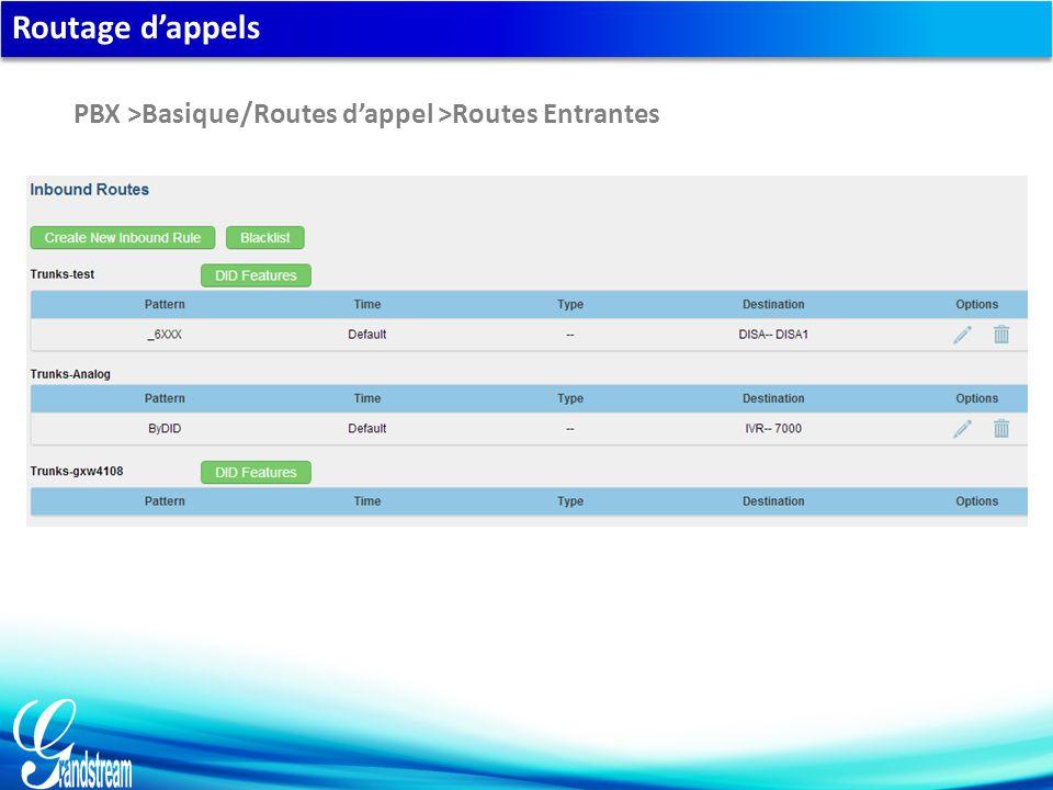 Routage d'appels PBX >Basique/Routes d'appel >Routes Entrantes