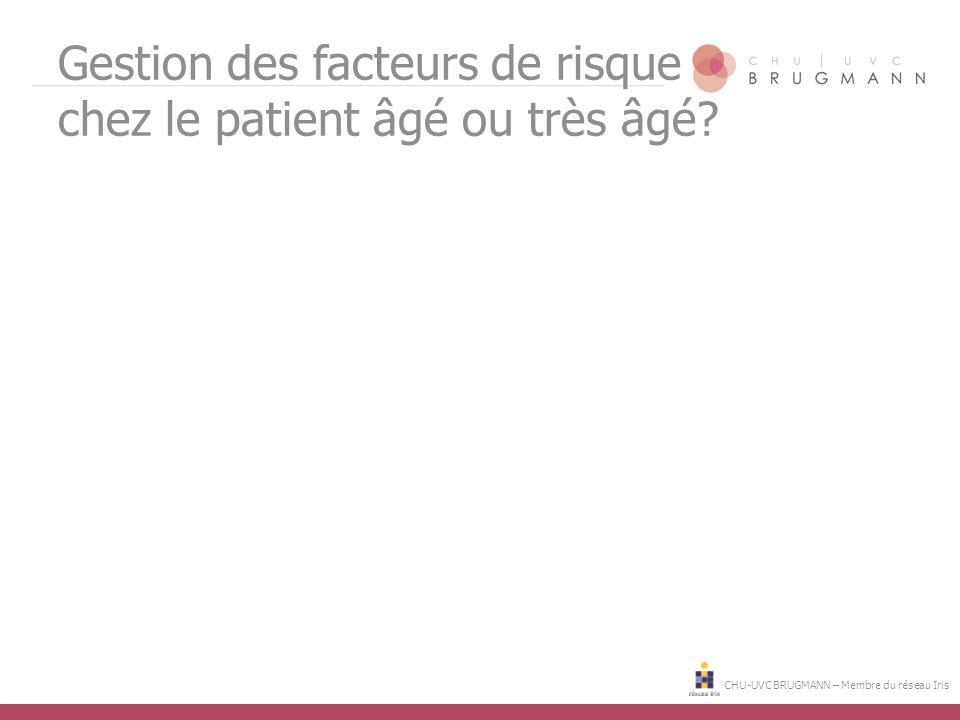 Gestion des facteurs de risque chez le patient âgé ou très âgé?