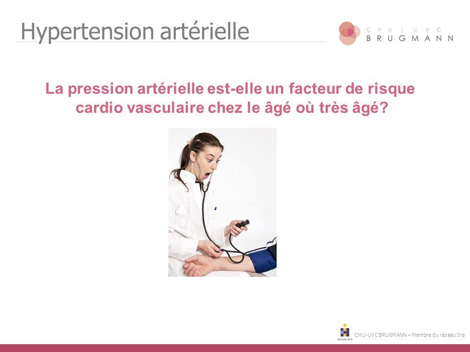 CHU-UVC BRUGMANN – Membre du réseau Iris Hypertension artérielle La pression artérielle est-elle un facteur de risque cardio vasculaire chez le âgé où