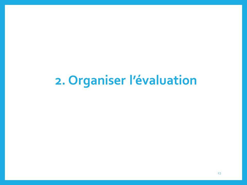 2. Organiser l'évaluation 23