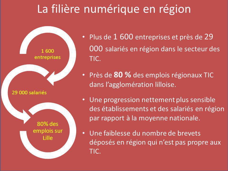 Plus de 1 600 entreprises et près de 29 000 salariés en région dans le secteur des TIC.