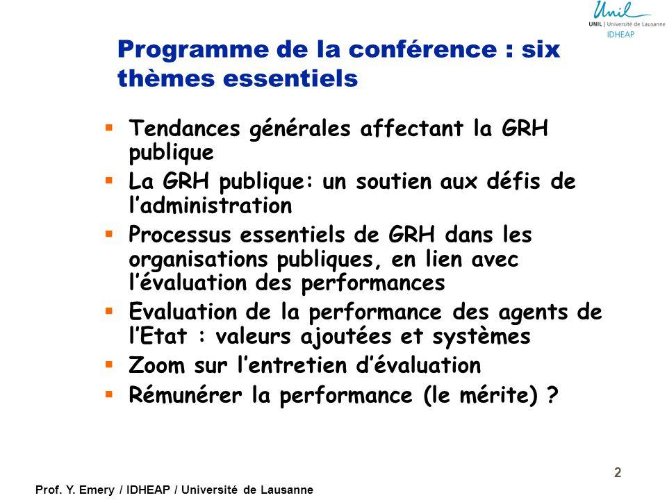 Prof. Y. Emery / IDHEAP / Université de Lausanne 1 Gouvernement de la République de Madagascar Sessions de visioconférences internationales Evaluation