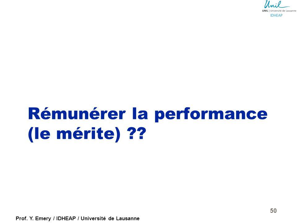 Prof. Y. Emery / IDHEAP / Université de Lausanne Les échecs (ou facteurs de succès !) de l'évaluation...  Manque de support de la direction  Incapac