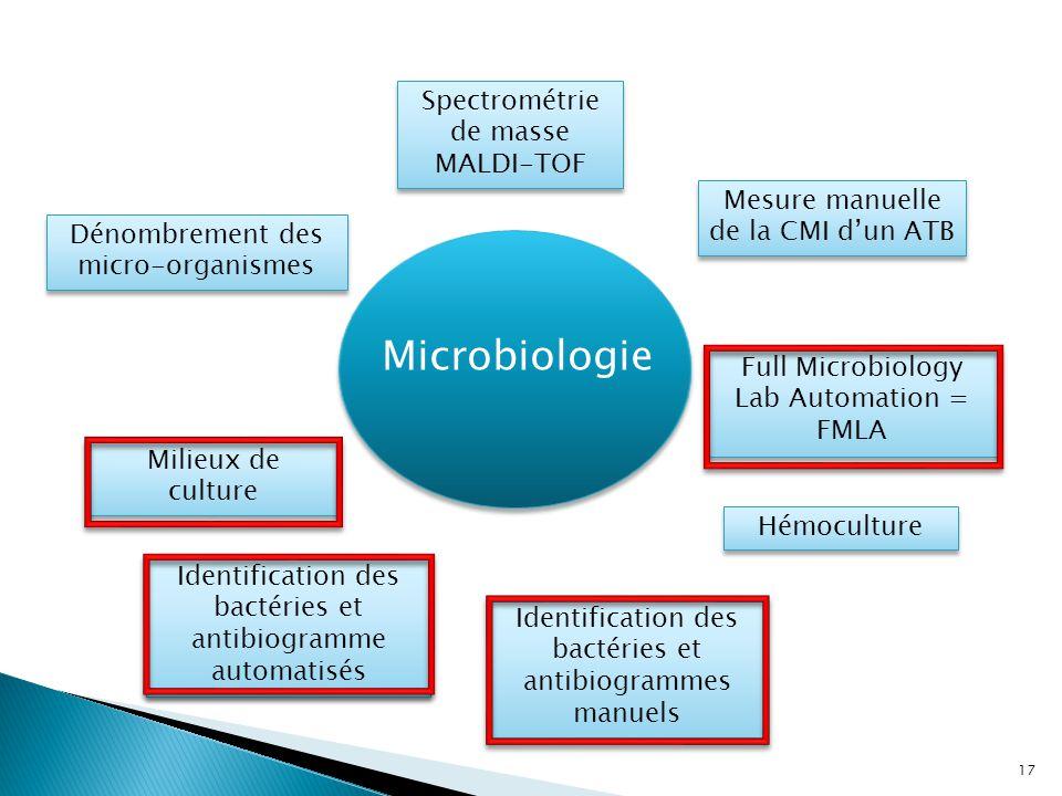 Microbiologie Milieux de culture Identification des bactéries et antibiogrammes manuels Mesure manuelle de la CMI d'un ATB Identification des bactérie