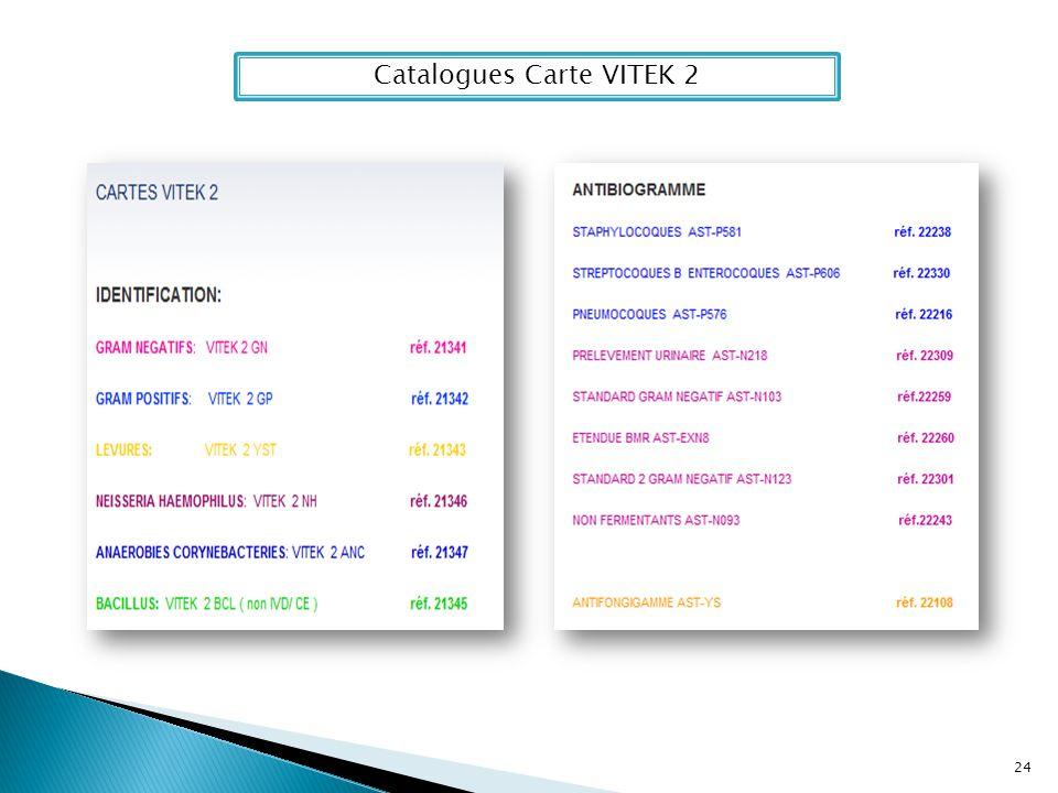 Catalogues Carte VITEK 2 24