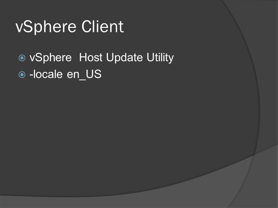 vSphere Client  vSphere Host Update Utility  -locale en_US