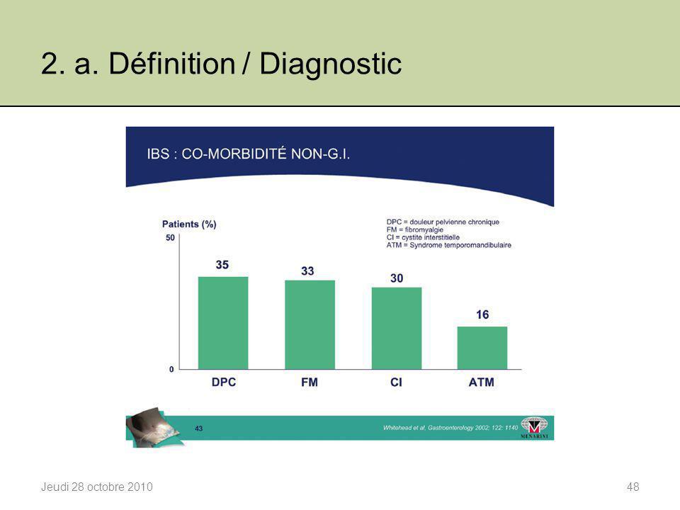 2. a. Définition / Diagnostic Jeudi 28 octobre 201048