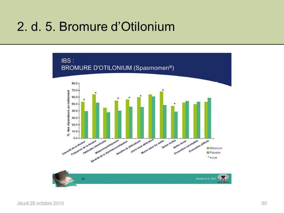 2. d. 5. Bromure d'Otilonium Jeudi 28 octobre 201080
