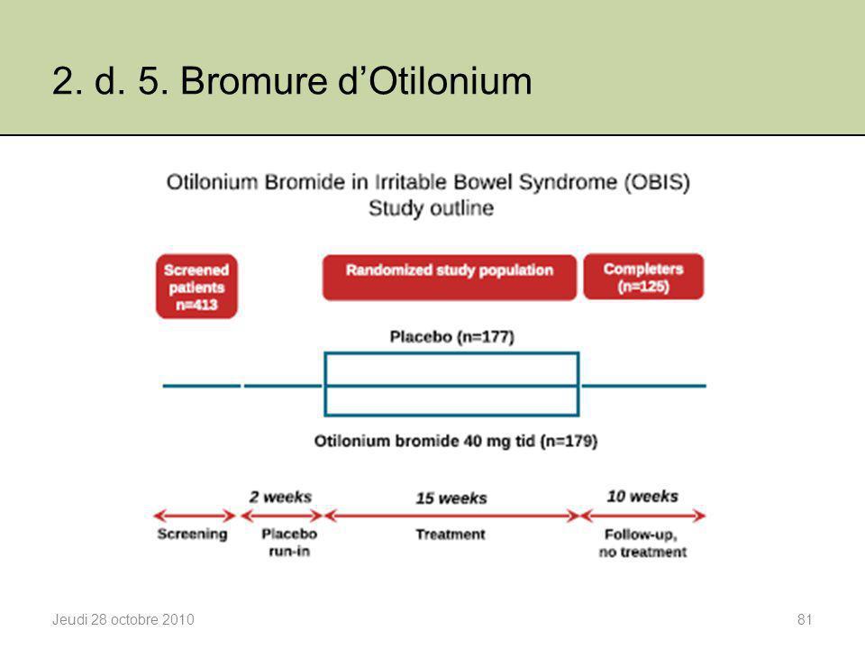 2. d. 5. Bromure d'Otilonium Jeudi 28 octobre 201081
