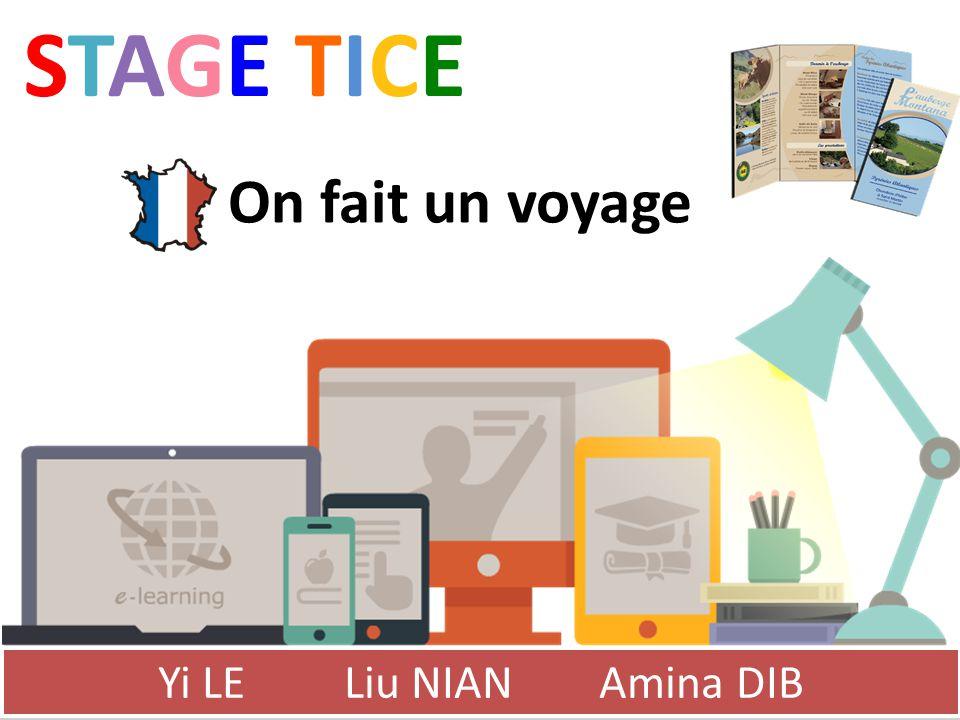 STAGE TICESTAGE TICE Yi LE Liu NIAN Amina DIB On fait un voyage