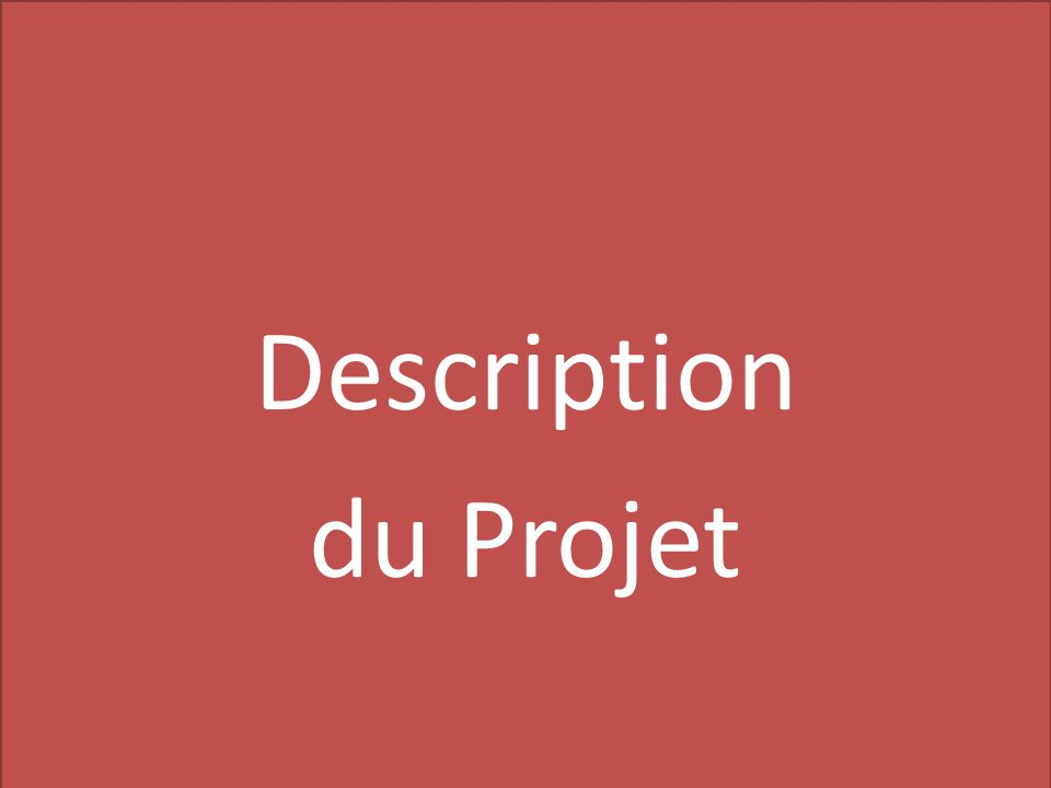 Description du Projet