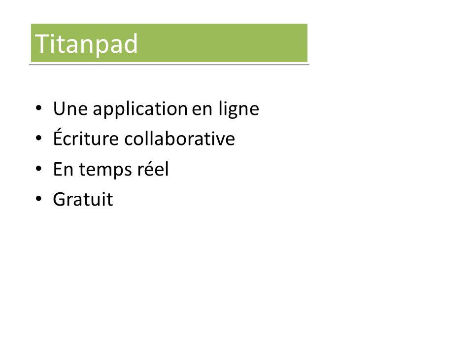 Titanpad Une application en ligne Écriture collaborative En temps réel Gratuit