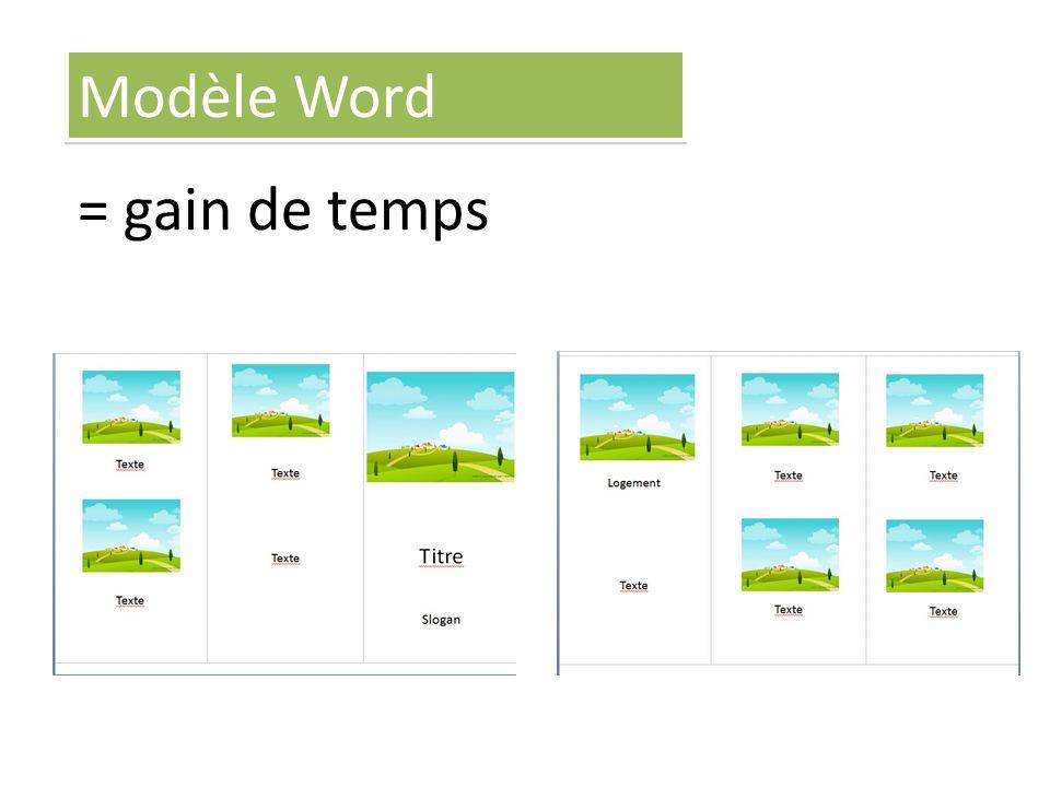 = gain de temps Modèle Word