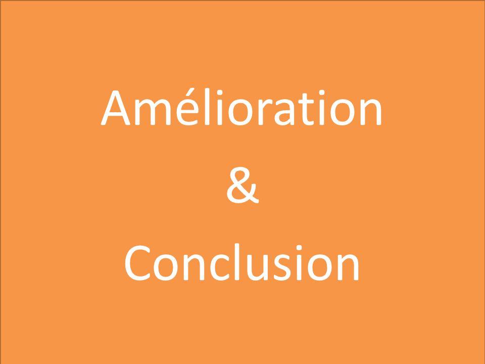 Amélioration & Conclusion