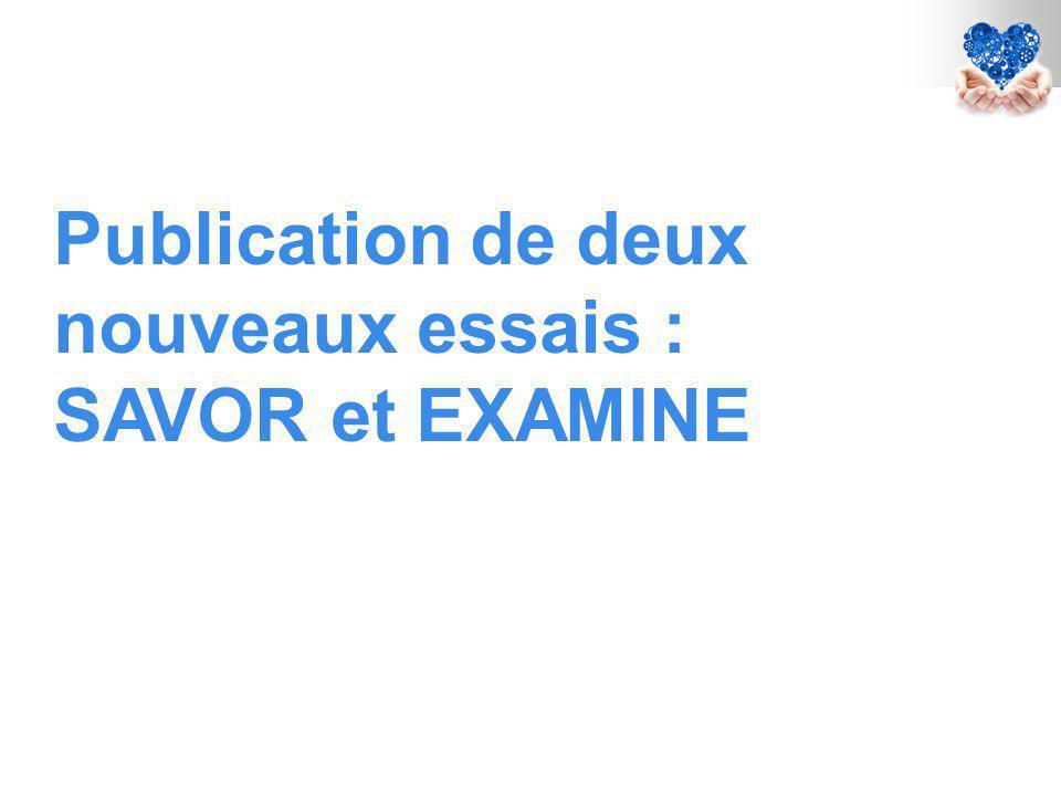 Publication de deux nouveaux essais : SAVOR et EXAMINE