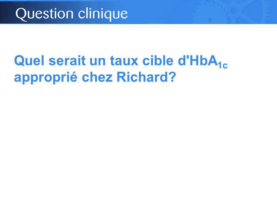 Quel serait un taux cible d HbA 1c approprié chez Richard?