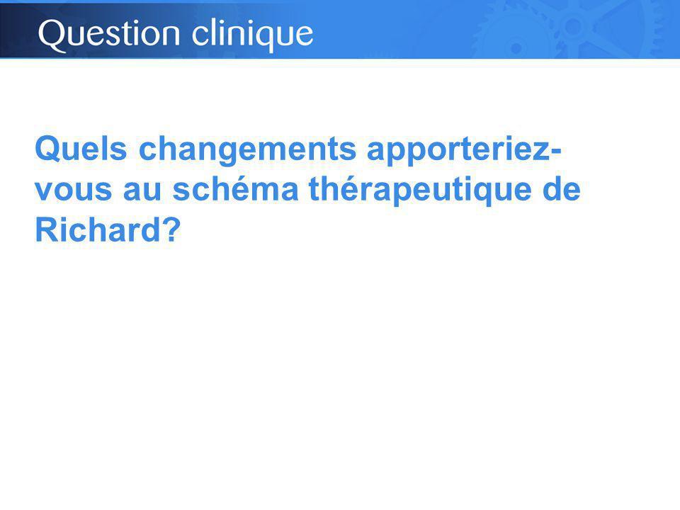 Quels changements apporteriez- vous au schéma thérapeutique de Richard?