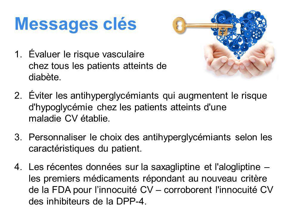 Messages clés 1.Évaluer le risque vasculaire chez tous les patients atteints de diabète.