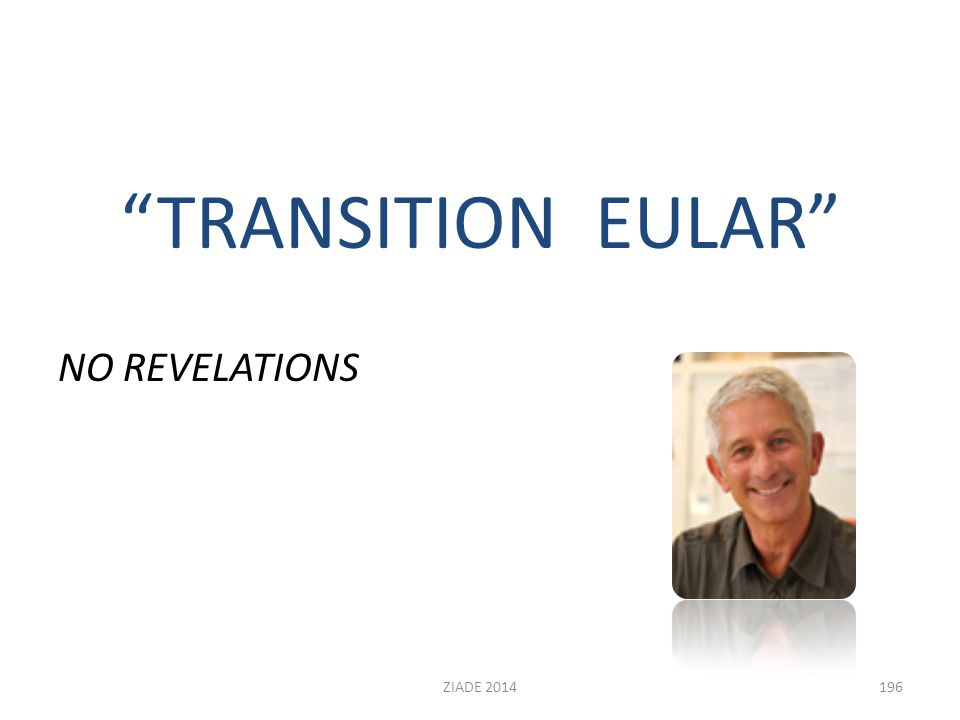 """TRANSITION EULAR"" NO REVELATIONS 196ZIADE 2014"