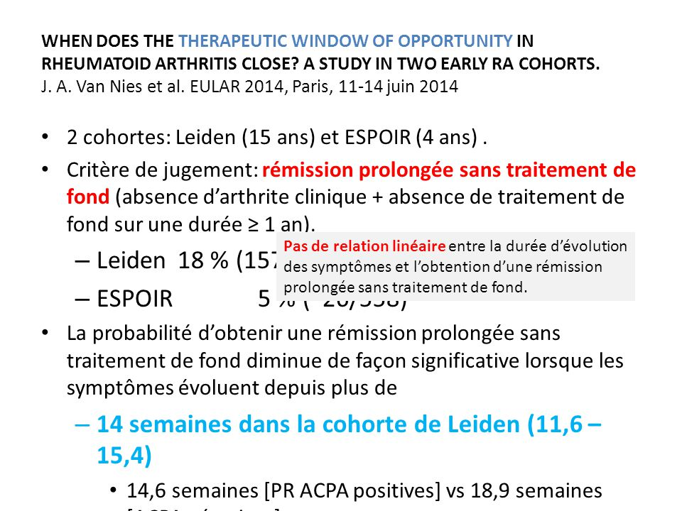 WHEN DOES THE THERAPEUTIC WINDOW OF OPPORTUNITY IN RHEUMATOID ARTHRITIS CLOSE.